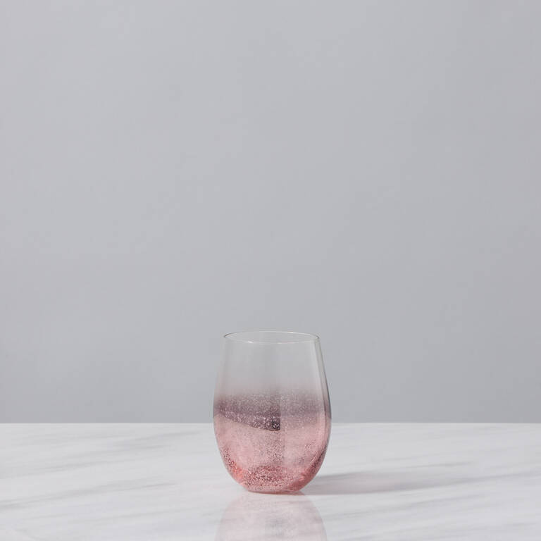 Verre court Shimmer rose doré