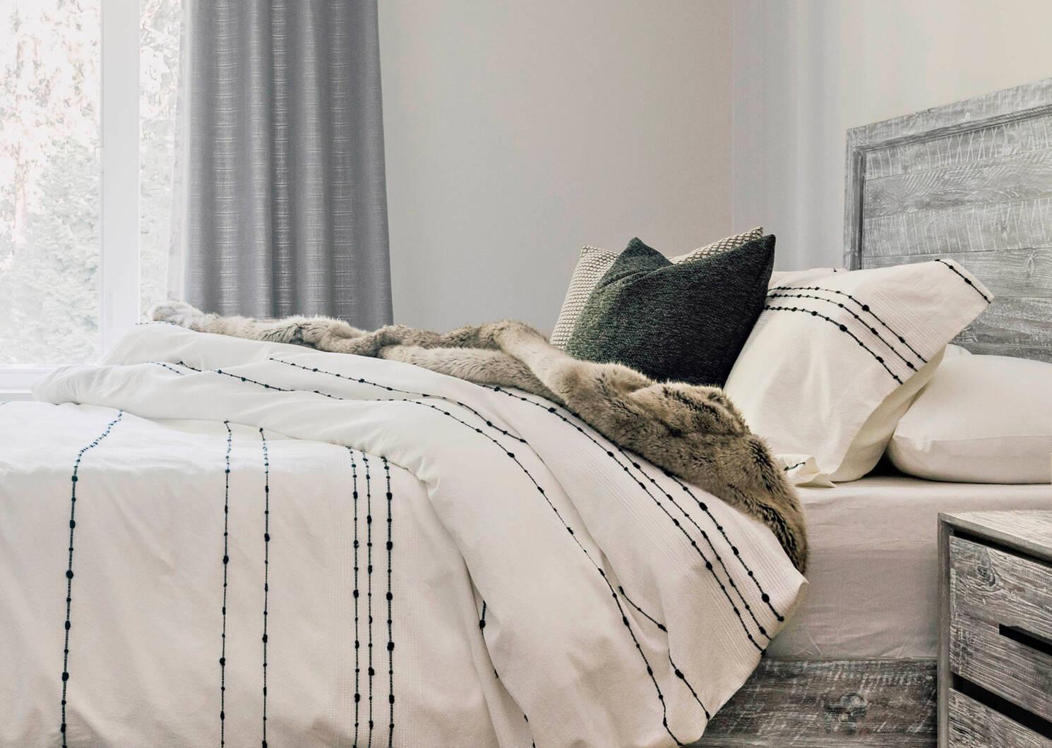 Habitat Faux Fur Bedspreads - Mink