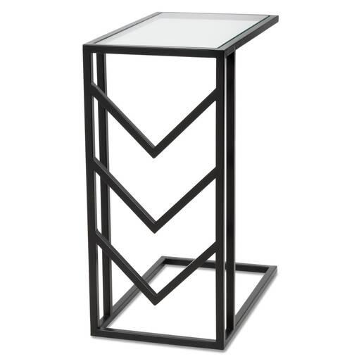 Niagara Tuck Side Table -Black