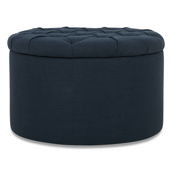 Emery Storage Ottoman -Foley Navy