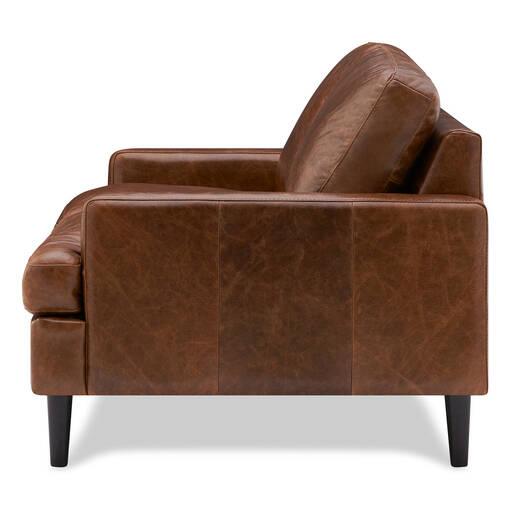 Savoy Leather Loveseat –Jasper Walnut