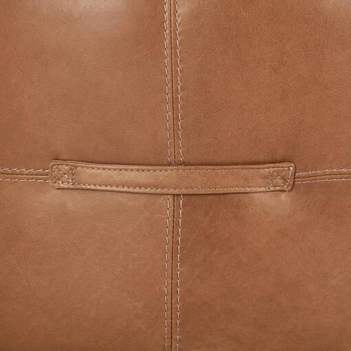 """Archibald Leather Ottoman 36"""" -Adler Tan"""