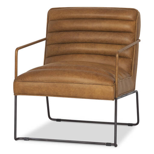 Damarco Leather Armchair -Alta Rum
