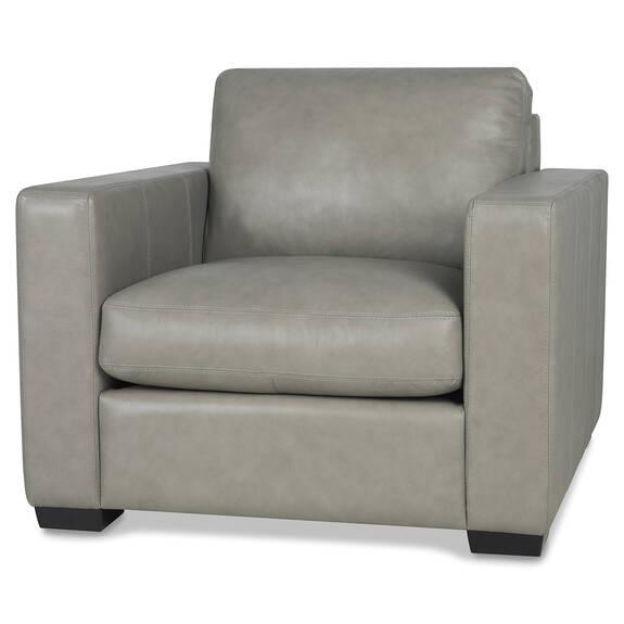 Brewer Custom Leather Armchair