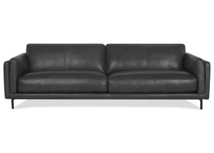 Canapé en cuir Renfrew 94 po -Alder gris