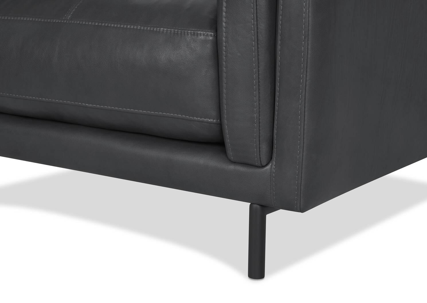 Renfrew Leather Armchair -Adler Grey