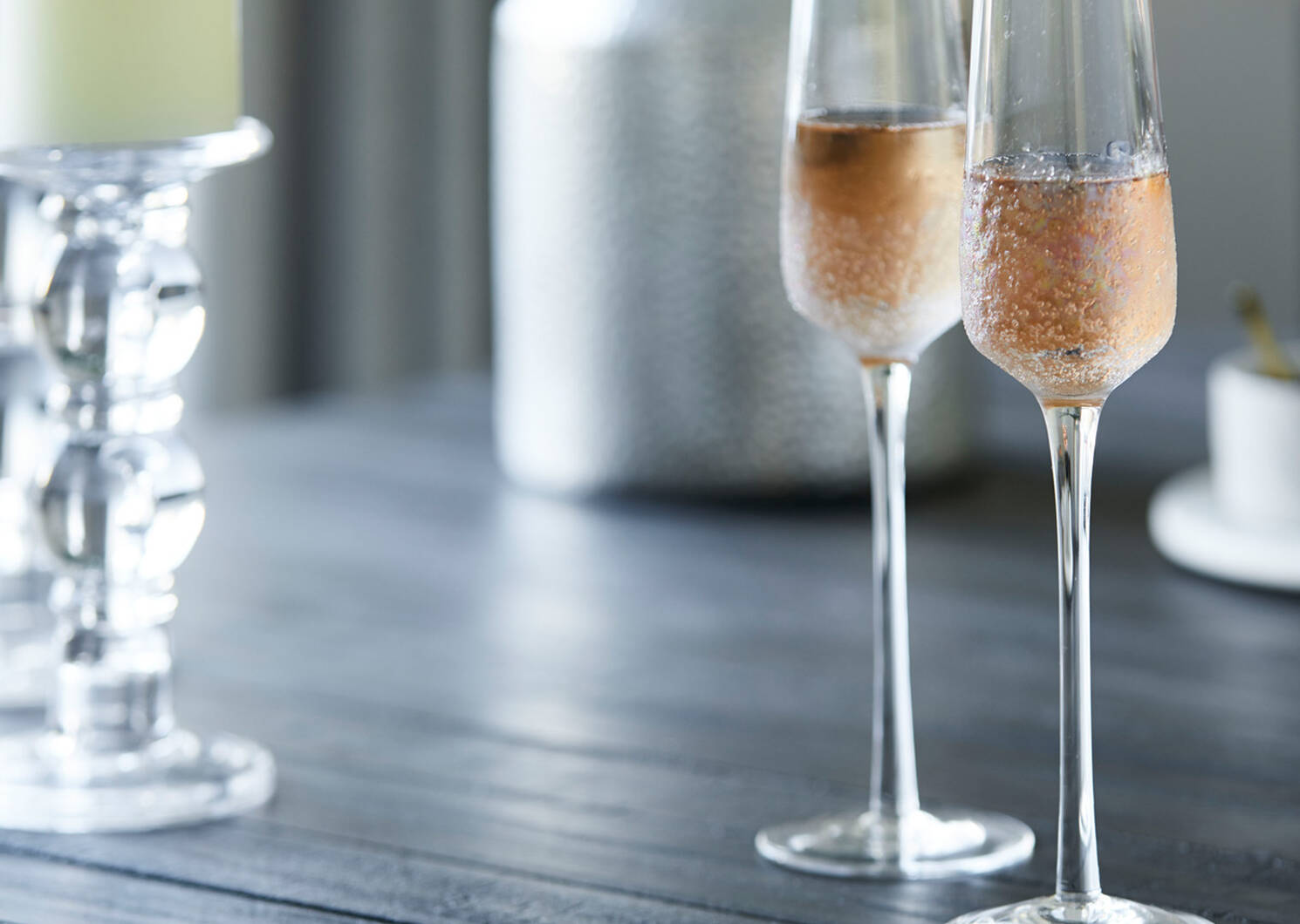 Bliss Champagne Flute Iridescent