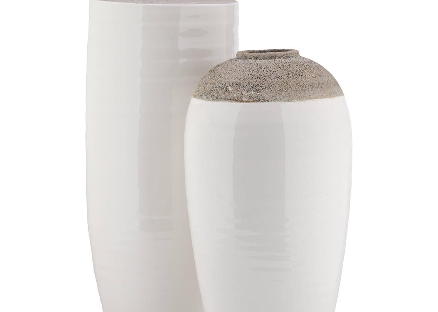 Grand vase Janis blanc