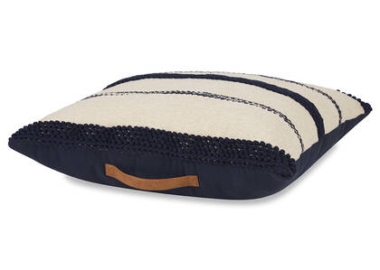 Virginia Floor Cushion Natural/Midnight