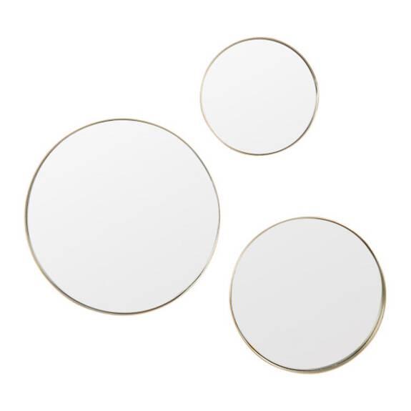 Ens. de miroirs muraux Frances laiton