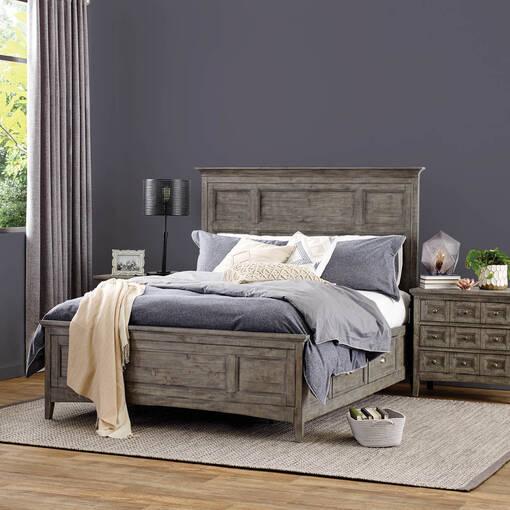 Parker Storage Bed -Heron Grey