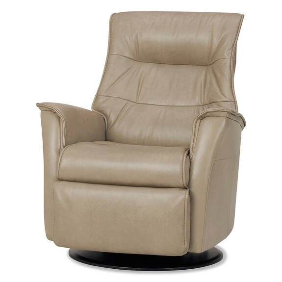 Paramount Leather Recliner -Sol Dove