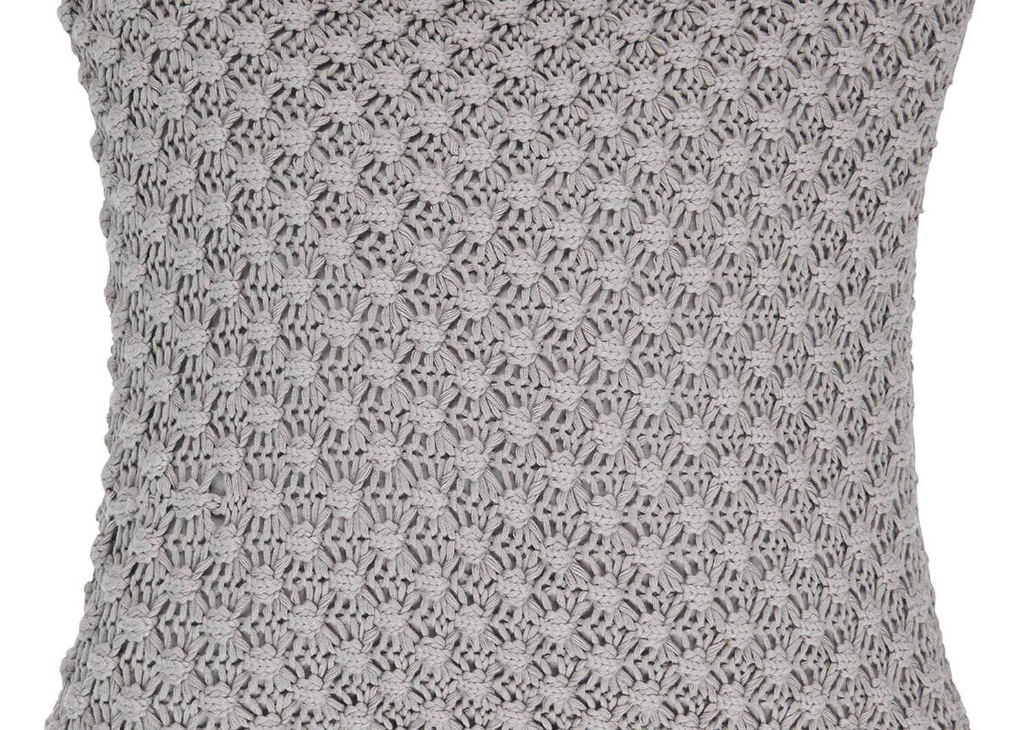 Ellie Cotton Toss 20x20 Light Grey
