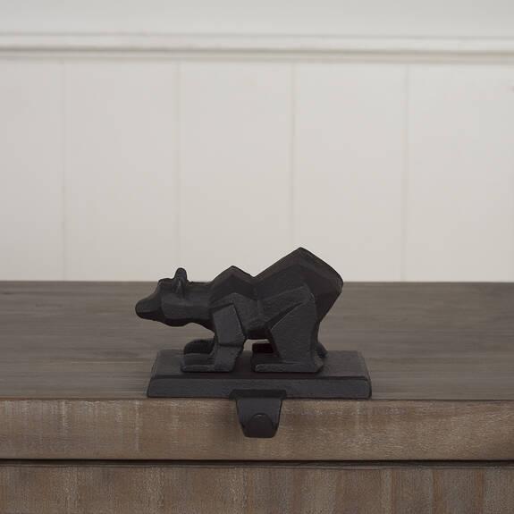 Rimple Bear Stocking Holder Black