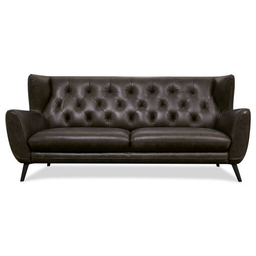 Lewis Leather Sofa -Hewitt Grey