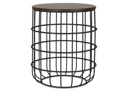 Zade Accent Table -Brown Ash