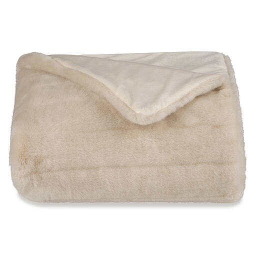 Starlet Faux Fur Throw Oyster