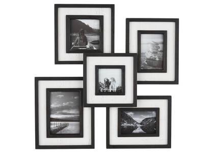 Cadre à photos mult. Ashworth noir/blanc