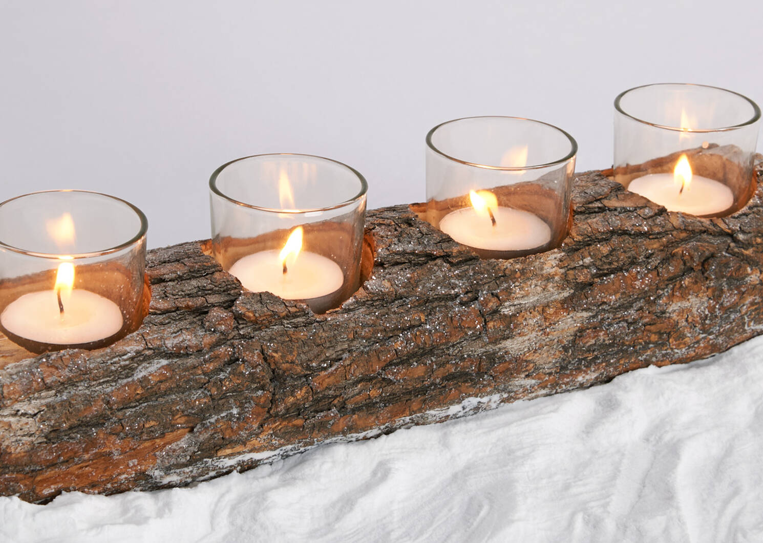 Woodlyn Tealight Holders - Natural