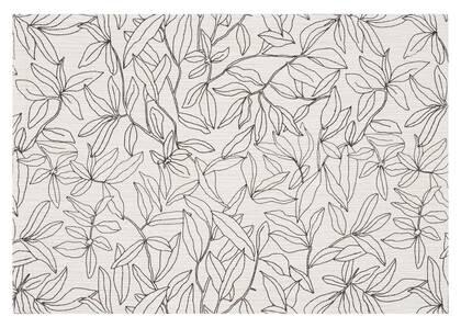 Napperon floral Joplin avoine/noir