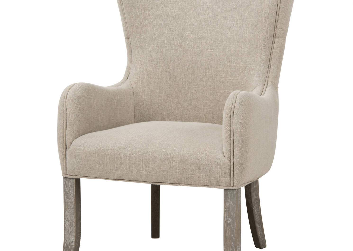 Oak Bay Host Chair -Nantucket Linen