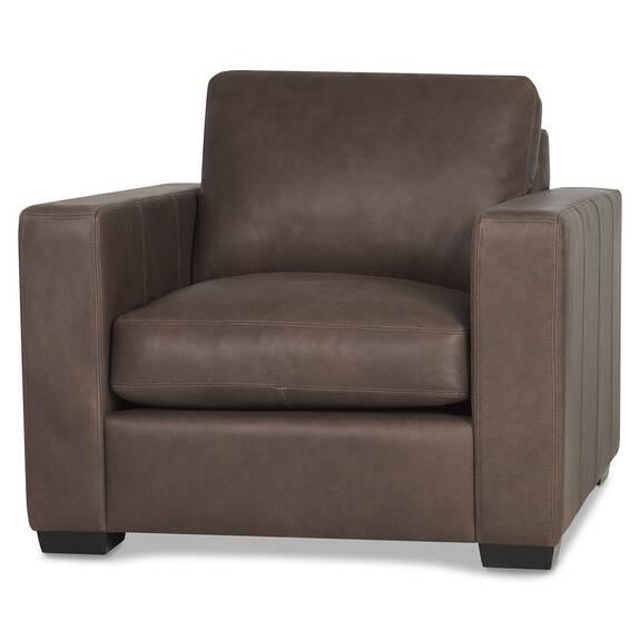 Brewer Leather Armchair -Attica Cocoa