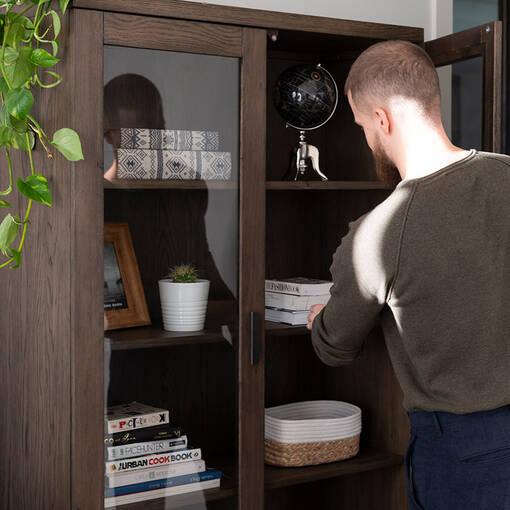 Vance Display Shelf -Grey Umber