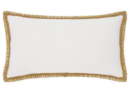 Coussin bord. Veracruz 12x22 iv/ch. doré