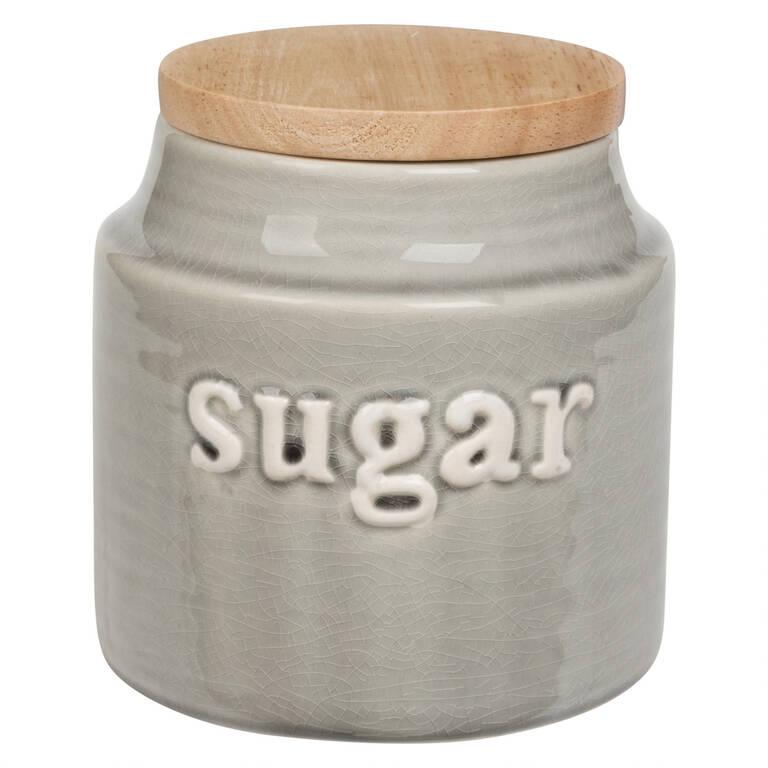 Lilian Sugar Canister Grey