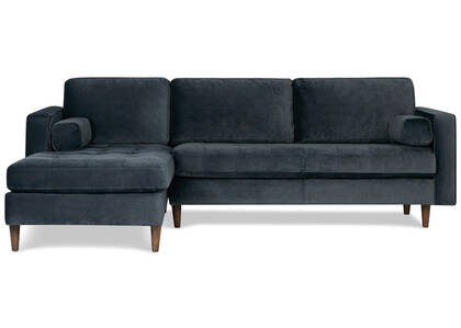Reynolds Sofa Chaise -Gala Steel, LCF