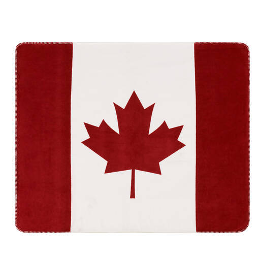 Canada Flag Sherpa Throw