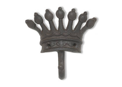 Crochet mural couronne du roi