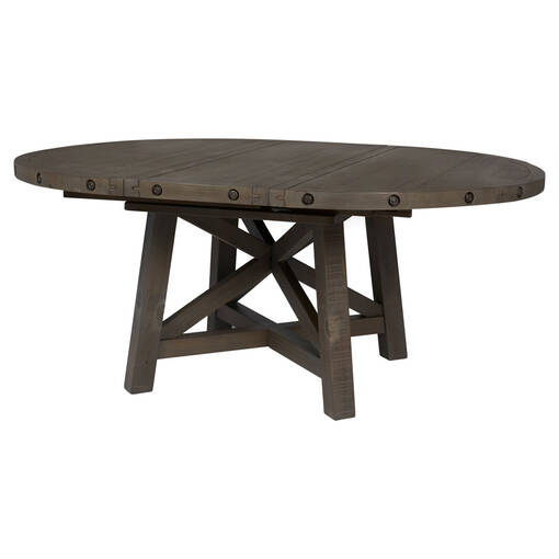 Ironside Ext Dining Table Rnd -Grey