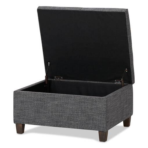 Wilfred Storage Ottoman -Lund Charcoal