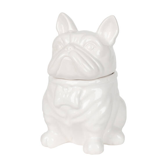 Louie Bulldog Cookie Jar White