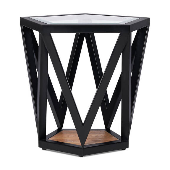 Pentagon Side table -Teak