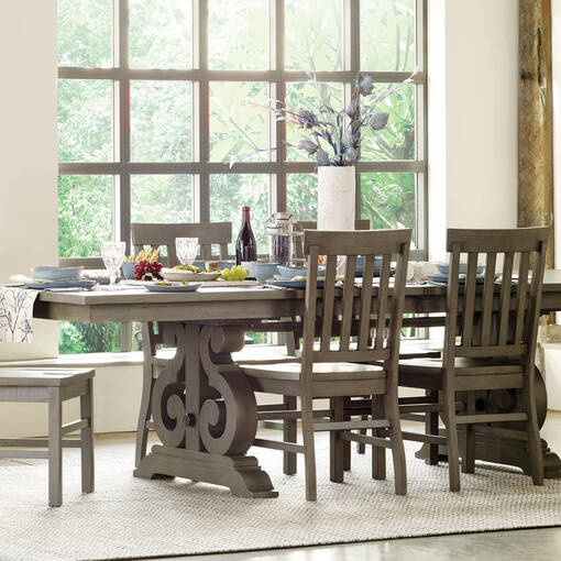 Churchill Ext Dining Table Pewter