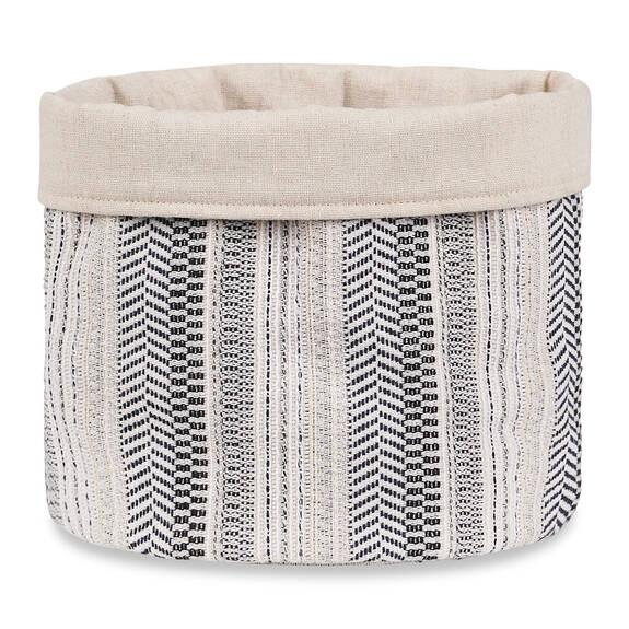 Jovie Stripe Bread Basket White/Atlantic