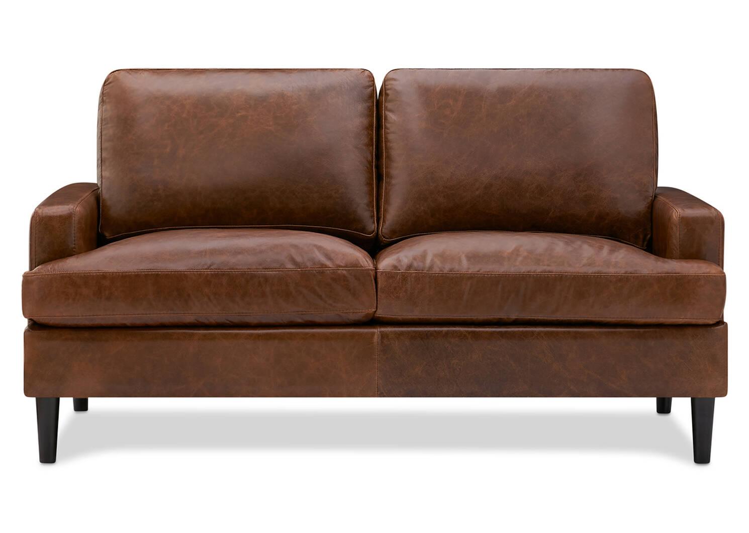 Savoy Custom Leather Loveseat