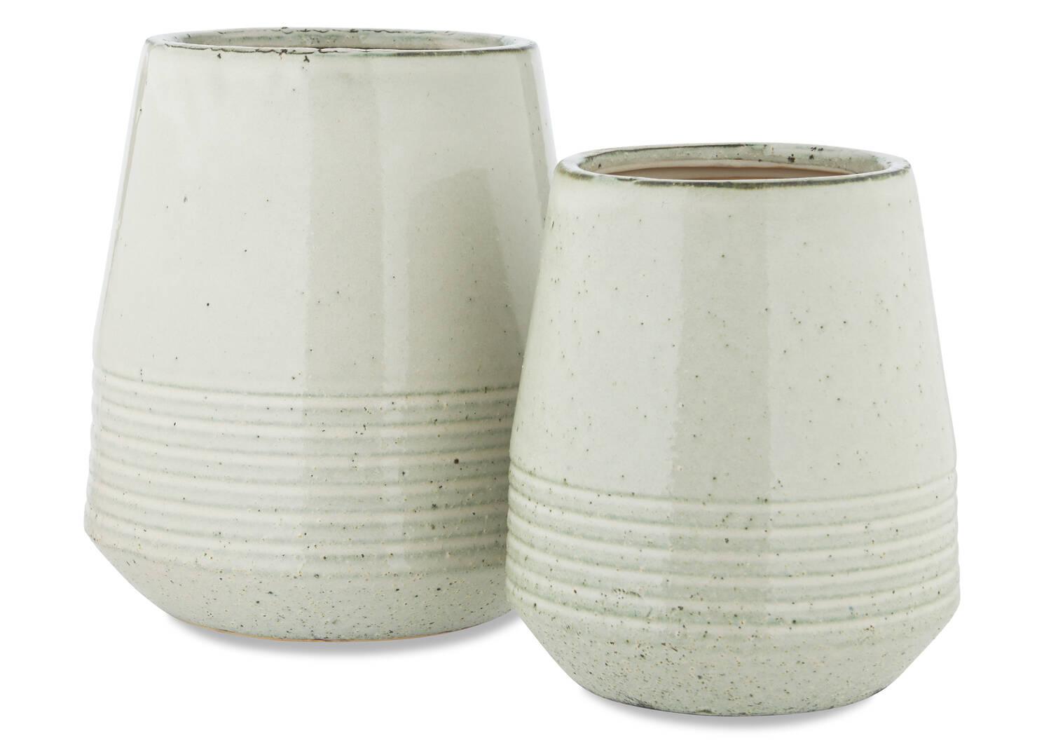 Clancy Vases -White
