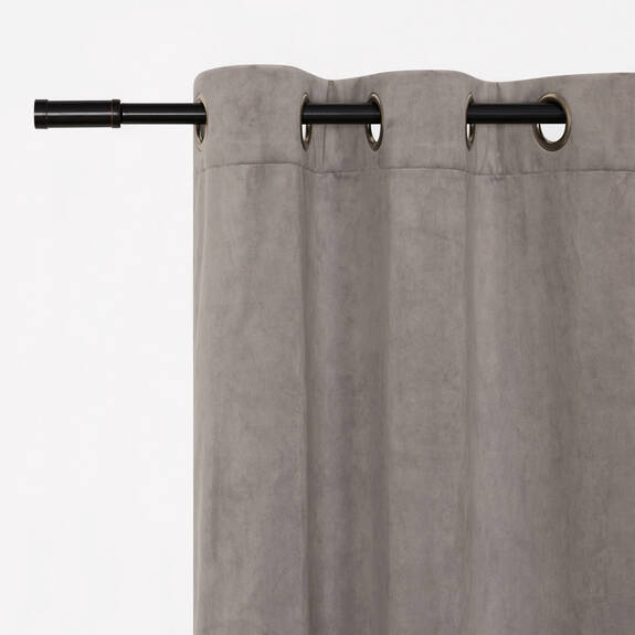 Gautier Velvet Panel 96 Light Grey