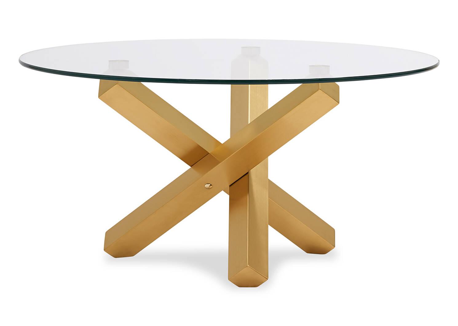 Table basse Maverick -laiton mat