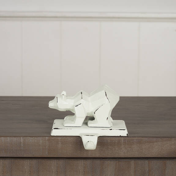 Rimple Bear Stocking Holder White
