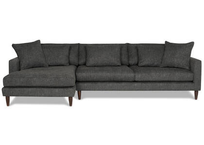 Nixon Sofa Chaise -Giovanna Pewter, LCF