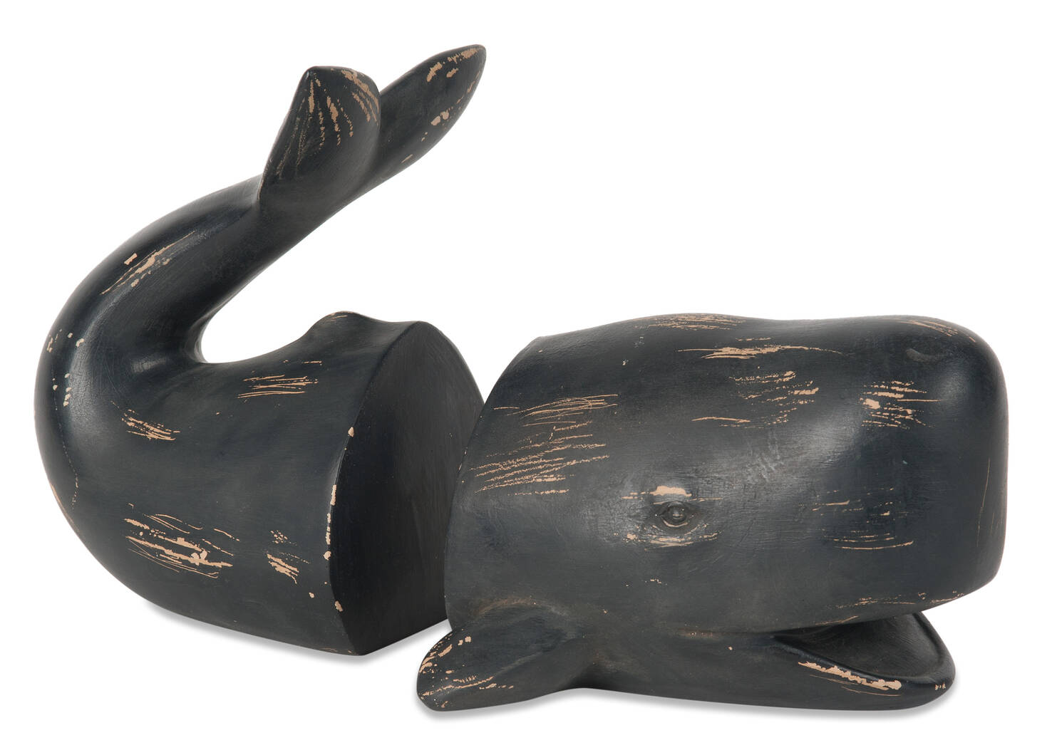 Cachalot Whale Bookend Set Black