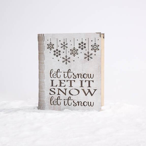 Bloc écriteau DEL Let It Snow