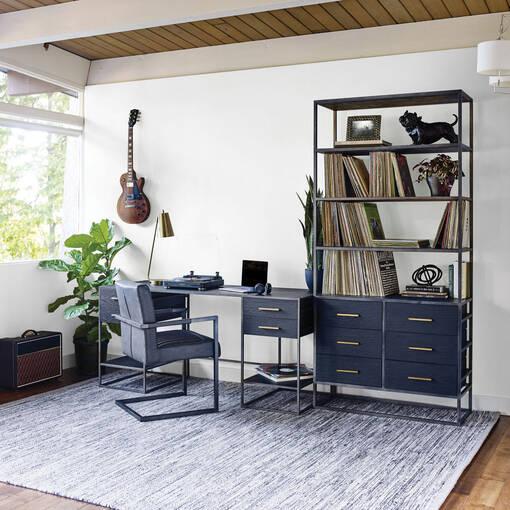 Lenyx Lg Bookshelves Ebony Oak
