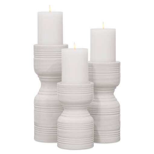 Rife Candle Holders - Milk