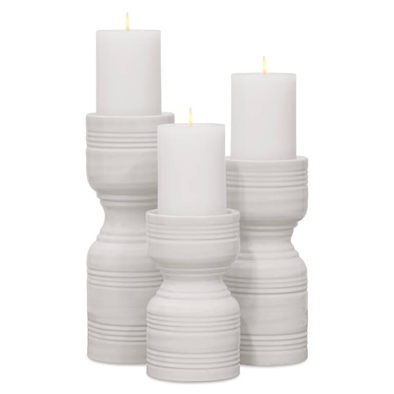 Rife Candle Holders - Milk