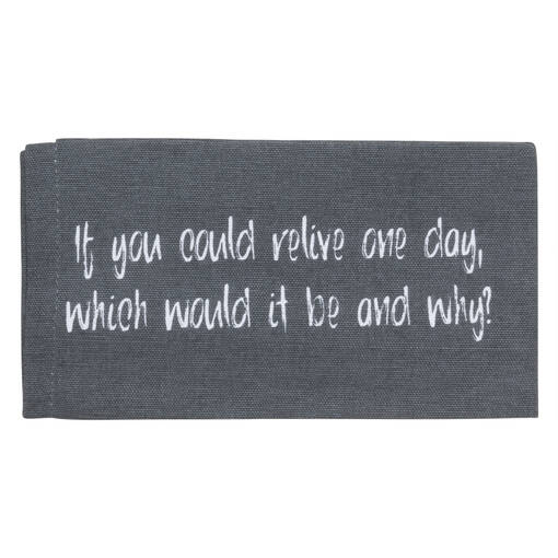 Conversation Napkins Set of 8 Grey